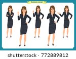 set of businesswoman character... | Shutterstock .eps vector #772889812