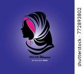 hijab logo template. hijab...   Shutterstock .eps vector #772893802