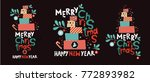 festive song from the pile of... | Shutterstock .eps vector #772893982