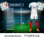 england soccer jersey kit with... | Shutterstock .eps vector #772895146
