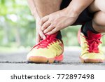 archillis tendinitis  injury... | Shutterstock . vector #772897498