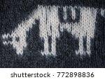knitting fabric texture... | Shutterstock . vector #772898836