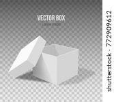 white empty box with an open... | Shutterstock .eps vector #772909612