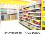 shopping mall and department... | Shutterstock . vector #772910002