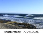 shorebreak waves france   Shutterstock . vector #772910026