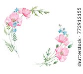Watercolor Floral Round Wreath...