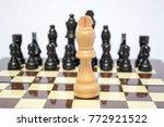 chess. one against all.... | Shutterstock . vector #772921522
