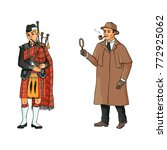 vector people in united kingdom ... | Shutterstock .eps vector #772925062