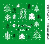 christmas eve. template poster  ... | Shutterstock .eps vector #772928566