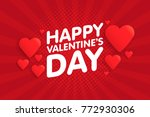 happy valentine's day vintage... | Shutterstock .eps vector #772930306