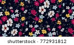 seamless floral pattern in... | Shutterstock .eps vector #772931812