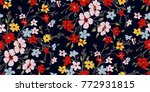seamless floral pattern in... | Shutterstock .eps vector #772931815
