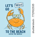 cute crab illustration with...   Shutterstock .eps vector #772932535