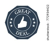 great deal flat badge on white... | Shutterstock .eps vector #772934422