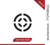 target vector icon isolated on... | Shutterstock .eps vector #772938022