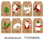 christmas labels and decoration ... | Shutterstock .eps vector #772938496