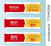 sale banners. special offer ... | Shutterstock .eps vector #772942306