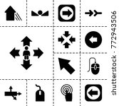 cursor icons. set of 13... | Shutterstock .eps vector #772943506