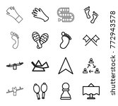 set of 16 two outline icons... | Shutterstock .eps vector #772943578