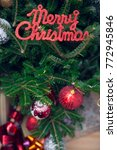 merry christmas red gleaming...   Shutterstock . vector #772945846