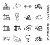 set of 16 lift outline icons...   Shutterstock .eps vector #772952008