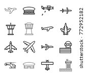 set of 16 aviation outline... | Shutterstock .eps vector #772952182