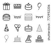 set of 16 birthday outline... | Shutterstock .eps vector #772952206