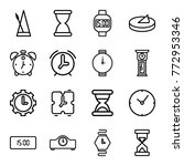 set of 16 clock outline icons... | Shutterstock .eps vector #772953346