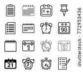 set of 16 reminder outline... | Shutterstock .eps vector #772953436