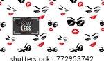 woman smirk and boss sunglasses ... | Shutterstock .eps vector #772953742