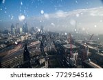 view of london on a cold winter ... | Shutterstock . vector #772954516