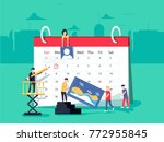 events. flat design business... | Shutterstock .eps vector #772955845
