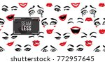 woman smile  cry  laugh  wasn't ... | Shutterstock .eps vector #772957645