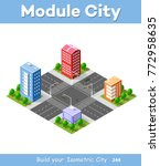 colorful 3d isometric module is ... | Shutterstock .eps vector #772958635