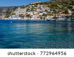 port of assos its bahia moored... | Shutterstock . vector #772964956