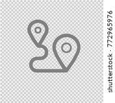 map pointer vector icon eps 10. | Shutterstock .eps vector #772965976