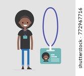 young black female employee... | Shutterstock .eps vector #772967716