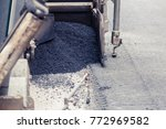 tractor  roller on the road... | Shutterstock . vector #772969582
