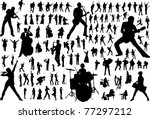 black silhouettes of musicians | Shutterstock . vector #77297212