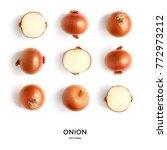 seamless pattern with onion....