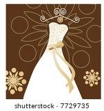 wedding dress   Shutterstock .eps vector #7729735