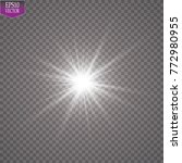 glow light effect. starburst... | Shutterstock .eps vector #772980955