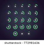 vector icon set in neon style...   Shutterstock .eps vector #772981636