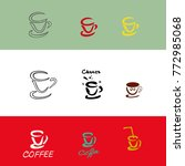 coffee mug. set. sketch. coffee ...   Shutterstock .eps vector #772985068