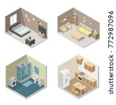 isometric interior vector... | Shutterstock .eps vector #772987096