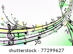 summer music background | Shutterstock .eps vector #77299627