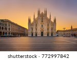 duomo   milan gothic cathedral... | Shutterstock . vector #772997842