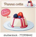panna cotta dessert with... | Shutterstock .eps vector #772998442