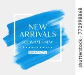 new arrivals sale text over art ... | Shutterstock .eps vector #772998868