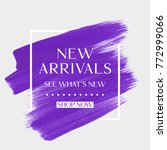 new arrivals sale text over art ... | Shutterstock .eps vector #772999066